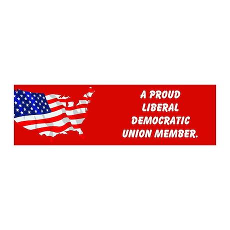 Proud Union Member 36x11 Wall Peel