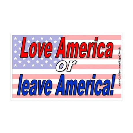 Love America or leave (sticker)