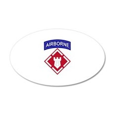 20th Engineer Airborne 20x12 Oval Wall Peel