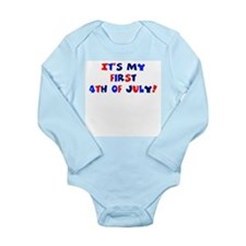 First 4th of July Long Sleeve Infant Bodysuit