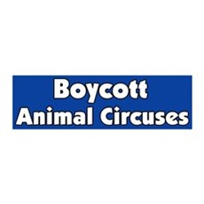 Boycott the Circus 36x11 Wall Peel