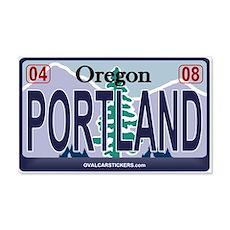Oregon Plate - PORTLAND 20x12 Wall Peel