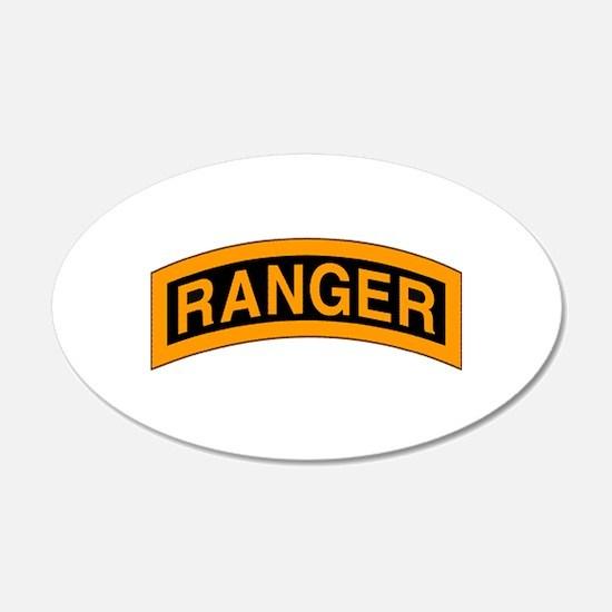 Ranger Tab 20x12 Oval Wall Peel