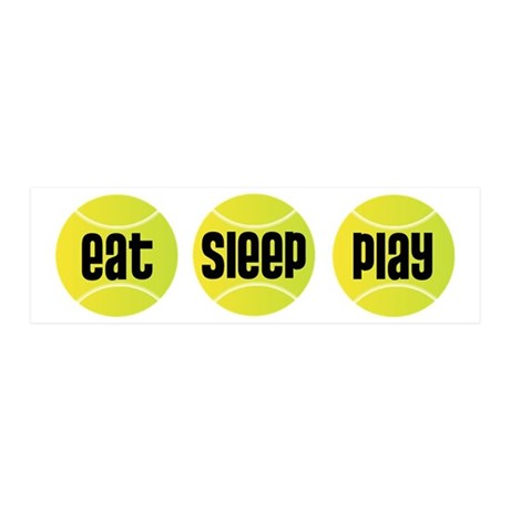 Eat Sleep Play Tennis 20x6 Wall Peel