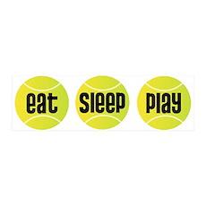 Eat Sleep Play Tennis 36x11 Wall Peel