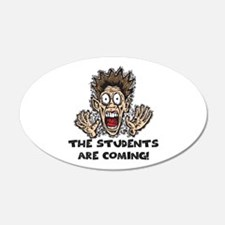 Funny Teacher Gifts 20x12 Oval Wall Peel