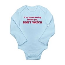 If breastfeeding offends Long Sleeve Infant Bodysu