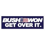 BUSH WON Bumper Sticker
