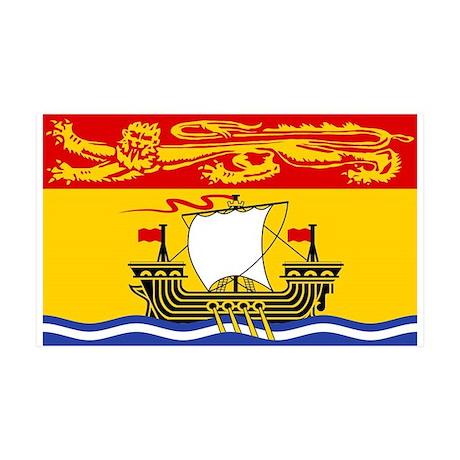New Brunswick Flag 35x21 Wall Peel