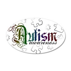 Autism Awareness - Medievel 20x12 Oval Wall Peel