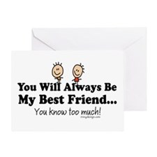 Best Friends Knows Greeting Card