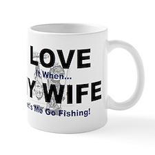 I Love my wife fishing Mug