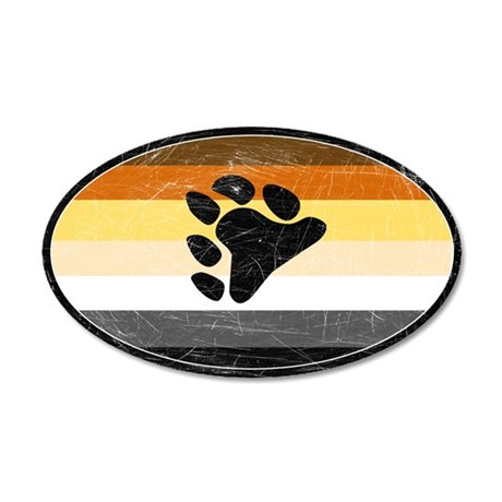Vintage Bear Pride 35x21 Oval Wall Peel
