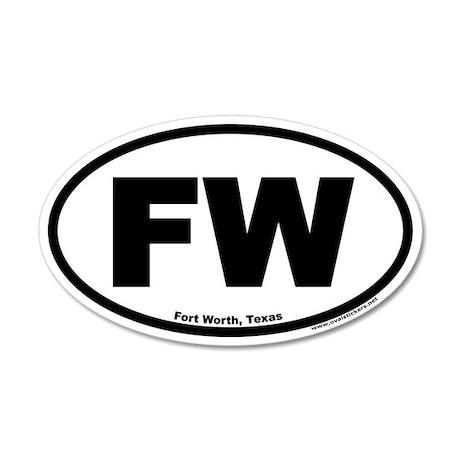 Fort Worth, Texas FW 35x21 Oval Wall Peel
