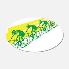 TOUR DE FRANCE CYCLISTS 20x12 Oval Wall Peel