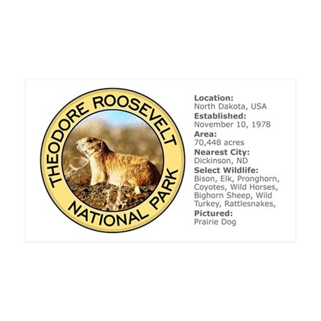 Theodore Roosevelt NP (Prairie Dog) Sticker (Recta
