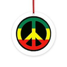 PEACE SIGN REGGAE Ornament (Round)