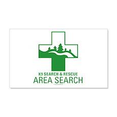 K9 Crosses - Area Search 20x12 Wall Peel