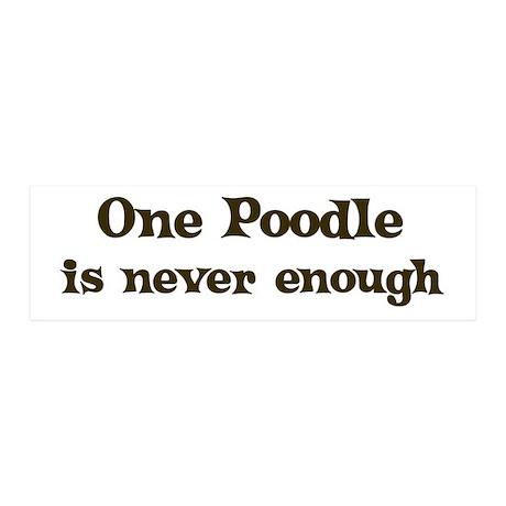 One Poodle 20x6 Wall Peel