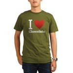 I Love Chocolate Organic Men's T-Shirt (dark)