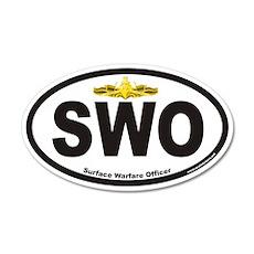 Surface Warfare Officer SWO 20x12 Oval Wall Peel