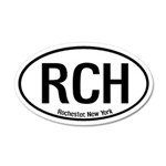 Rochester, New York 20x12 Oval Wall Peel