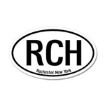 Rochester, New York 35x21 Oval Wall Peel