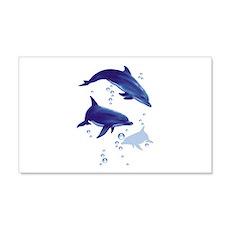 Blue dolphins 20x12 Wall Peel