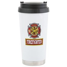 FireFighter Logo Travel Coffee Mug