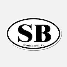 South Beach SB Euro Oval 20x12 Oval Wall Peel