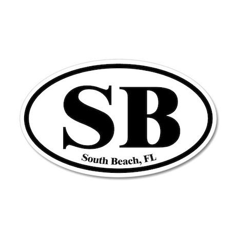 South Beach SB Euro Oval 35x21 Oval Wall Peel