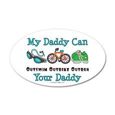 My Daddy Triathlon 20x12 Oval Wall Peel