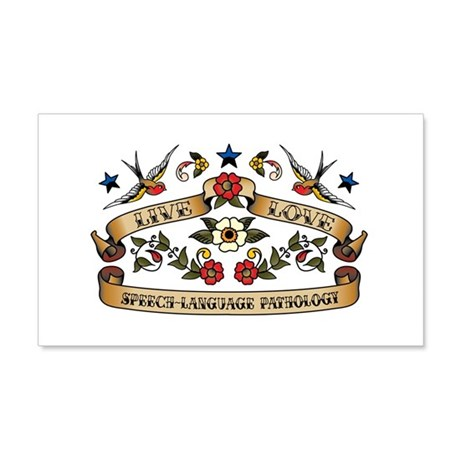 Live Love Speech-Language Pathology Sticker (Recta