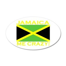 Jamaica Me Crazy! (Dark) 35x21 Oval Wall Peel
