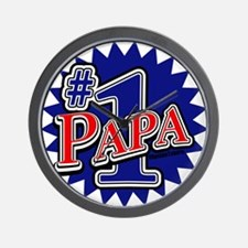 Number 1 Papa Wall Clock