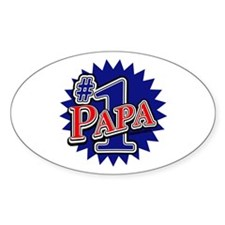 Number 1 Papa Decal