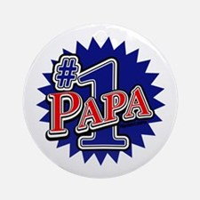 Number 1 Papa Ornament (Round)