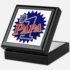 Number 1 Papa Keepsake Box