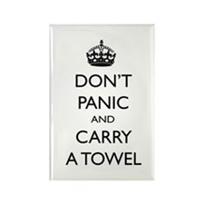 Don't Panic Rectangle Magnet