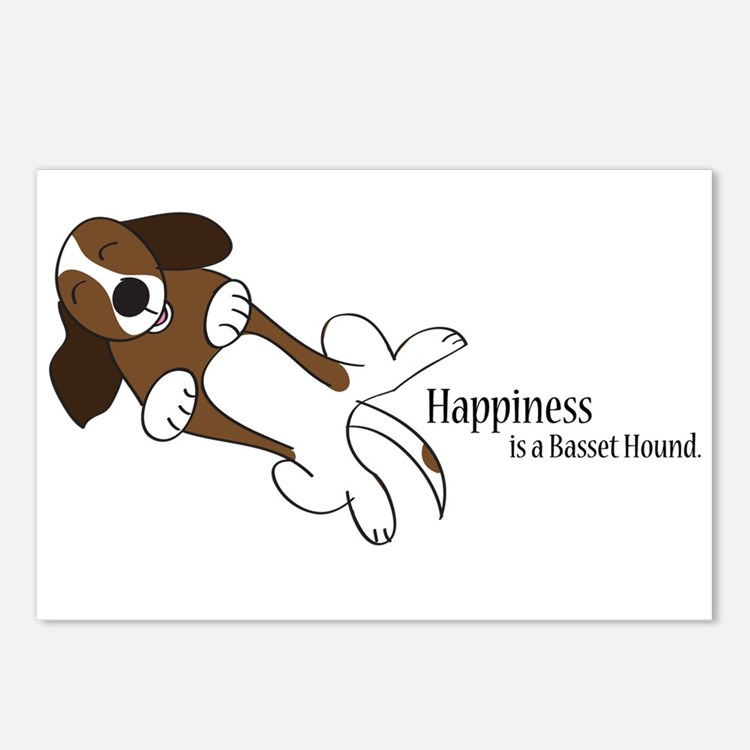 Basset Love Postcards (Package of 8)