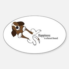 Basset Love Sticker (Oval)
