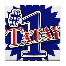 Number 1 Tatay Tile Coaster