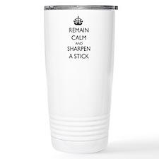 Sharpen a Stick Travel Mug