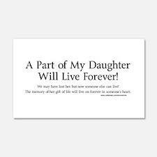 Organ Donor Daughter 20x12 Wall Peel