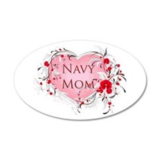 Navy Mom 20x12 Oval Wall Peel