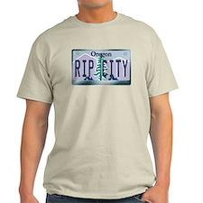 """RIP CITY"" Oregon License Plate T-Shirt"