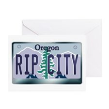"""RIP CITY"" Oregon License Plate Greeting Cards (Pk"