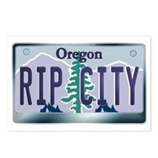 """""""RIP CITY"""" Oregon License Plate Postcards (Package"""