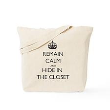 Hide in the Closet Tote Bag