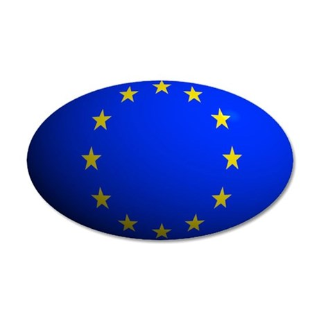 European Union Flag Rounded 20x12 Oval Wall Peel